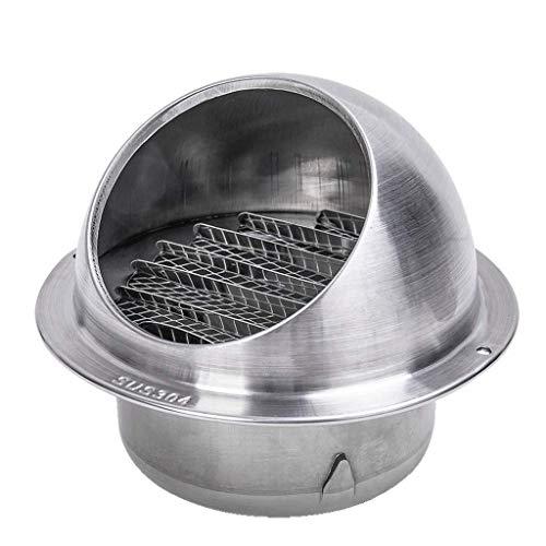 Tapa de chimenea Tapa de chimenea con recubrimiento en polvo Tapa de desagüe de acero inoxidable 304 Tapa de ventilación de techo Tapa de rejilla de lluvia Tapa a prueba de viento (tamaño: 300