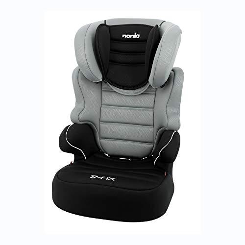 Nania Kindersitz Befix Gruppe 2/3 (15 – 36 kg) – 4 Sterne Adac – Französisches Produkt – Grau