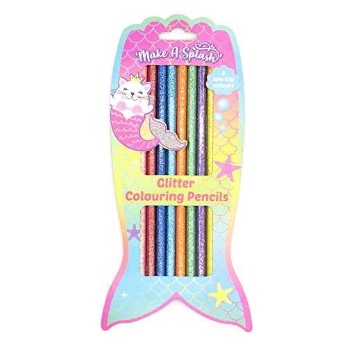 Mädchen Einhorn Glitzer Design Buntstifte - Packung mit 8