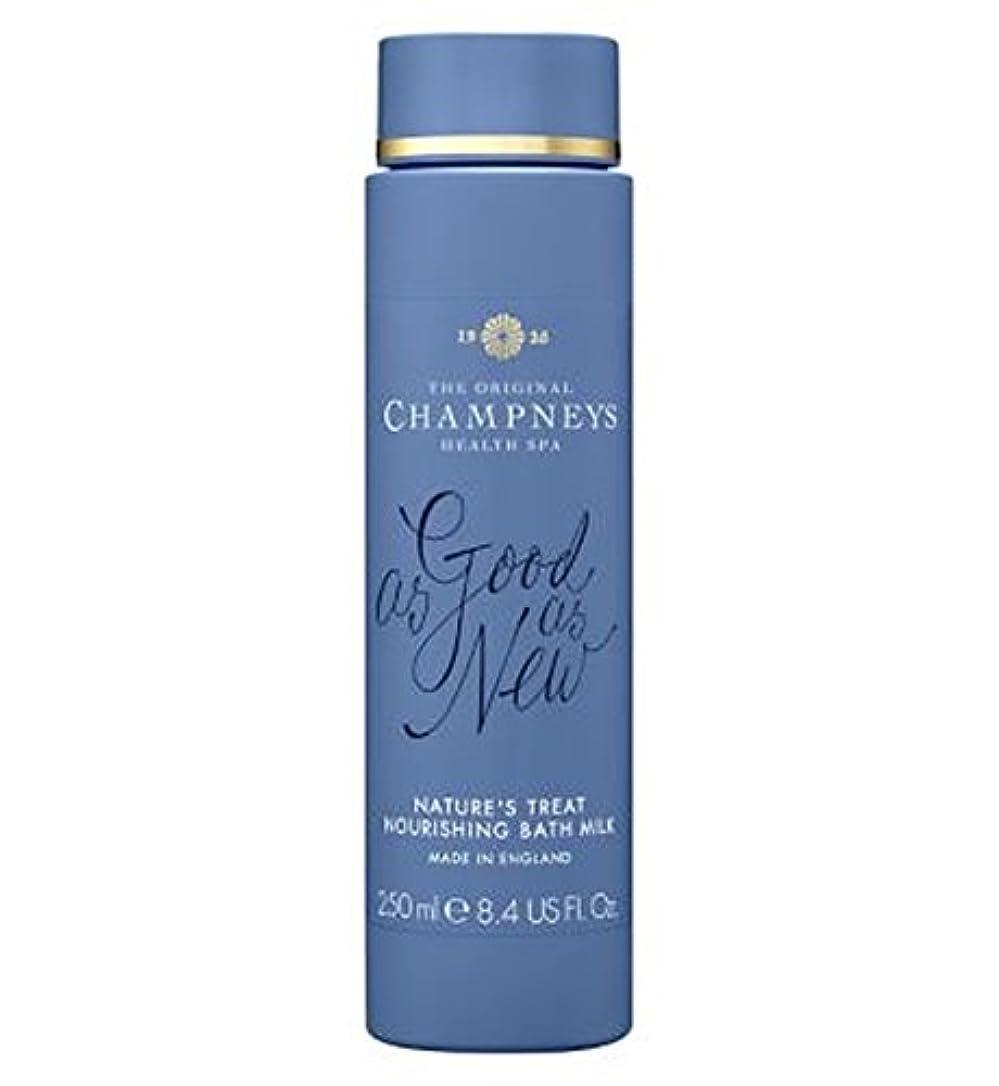 ポルティコバンジージャンプアッパーチャンプニーズの自然の御馳走栄養バスミルク250ミリリットル (Champneys) (x2) - Champneys Nature's Treat Nourishing Bath Milk 250ml (Pack of 2) [並行輸入品]