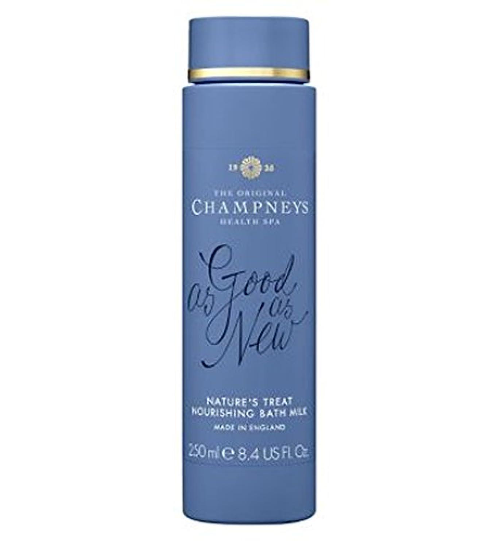 意図的まつげイソギンチャクチャンプニーズの自然の御馳走栄養バスミルク250ミリリットル (Champneys) (x2) - Champneys Nature's Treat Nourishing Bath Milk 250ml (Pack of 2) [並行輸入品]