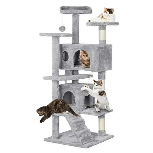 Yaheetech Katzenbaum Kratzbaum Kletterbaum für Katzen, mit Liegemulde Höhle