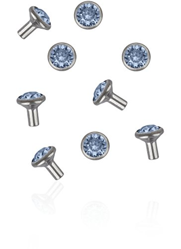 gogoritas Chaton Rivers de Swarovski Elements SS29 (Denim Blue, Argent) - 4mm Jambe, 100 Pièces