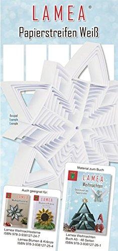 LAMEA Papierstreifen Weiß für Weihnachten: Papier für Buch: LAMEA Weihnachten (ISBN 978-3-938127-26-1) (Paper Frog DEKO)