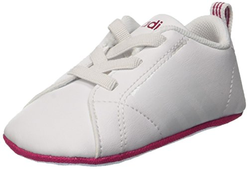 adidas Unisex Baby VS Advantage Crib Krabbel- & Hausschuhe, Mehrfarbig (FTWR White/FTWR White/Bold Pink), 17 EU