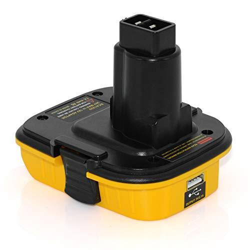 DCA1820 USB Adapter Replacement for Dewalt 18V to 20V Adapter,Convert Dewalt 20V Lithium Battery DCB205 DCB207 for Dewalt 18V NiCad & NiMh Battery Tools DC9096 DW9096 DC9098 DC9099 DW9099