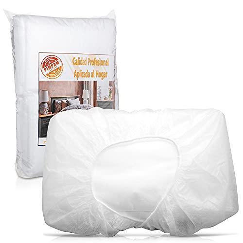 PimPam Factory - Pack de 100 Sábanas de TNT Desechables Ajustable | Fabricado en España 80x210cm | 100% Reciclables | Repele Líquidos | Ideal para Camas y Camillas de Masaje