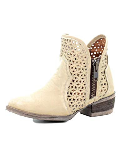Corral Boots Women's Q5018 White Size: 8 UK