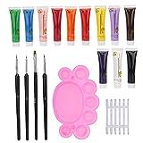 Kit de bolígrafo de pincel para decoración de uñas, kit de esmalte de gel para uñas, tienda de salón de artesanía exquisita tienda de manicura para salón de belleza en el hogar(default)