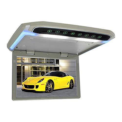 MiCarBa 12,1-Zoll-Flip-Down-Overhead-Monitor, 1080P HD-TFT-LCD-Ultradünne Monitorhalterung für HDMI-HDMI-SD-MP4-LED (CL1703HD-Grau)