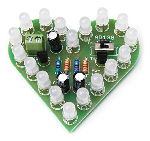 AR138 - Corazón LED Parpadeante para Montar uno Mismo