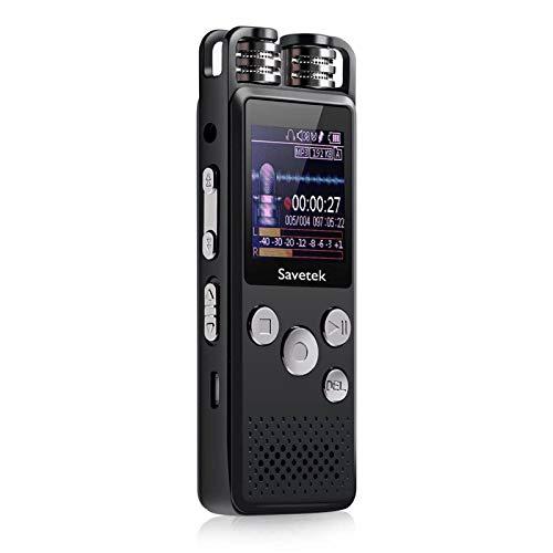 Voz Profesional Activado grabadora de Voz de Audio Digital 8GB 16GB 32G USB Pen Non-Stop 80hr Grabación PCM Soporte TF-Tarjeta (Capacity : 8GB, Color : Without Microphone)