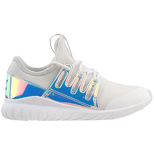 adidas Kids Girls Tubular Radial Lace Up Sneakers Shoes Casual - White - Size 2.5 M