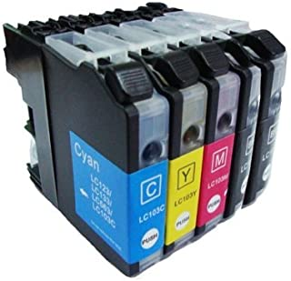 Inkcool Compatible Ink Cartridge Replacements for Brother LC 103 Ink LC-103BK LC-103C LC-103M LC-103Y (2 Black + 1 Cyan + 1 Magenta + 1 Yellow)