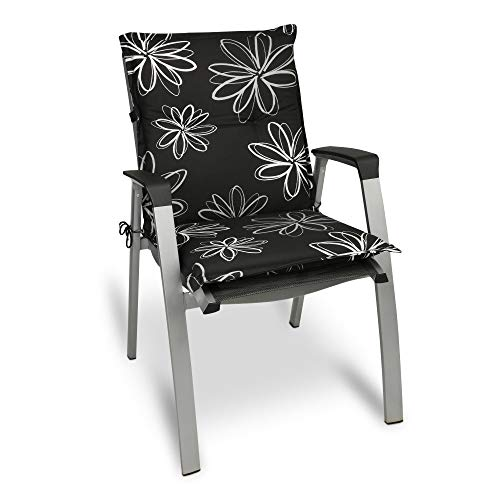 Beautissu Matelas Coussin pour Chaise Fauteuil de Jardin terrasse Flores 100x50x6cm - Design Flower