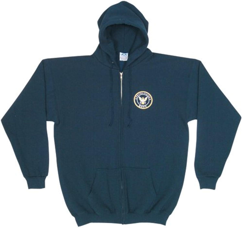 Outdoor Men's Us Navy Front Zip Hooded Sweatshirt