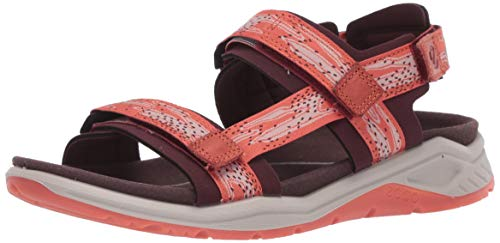 ECCO womens X-trinsic Textile Strap Sport Sandal, Fig/Apricot Textile, 8-8.5 US