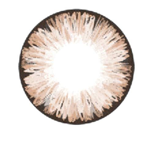 Matlens – EOS Farbige Kontaktlinsen ohne Stärke hazel braun ICE II 2 Linsen 1 Kontaktlinsenbehälter 1 Pflegemittel 50ml