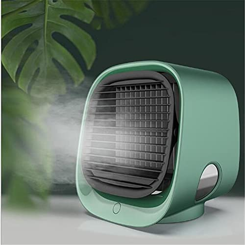 qwert Ventilador de Aire Acondicionado, Ventilador de Aire Acondicionado USB Adecuado para escritorios, Mini Mini humidificación del Enfriador de Aire,Verde