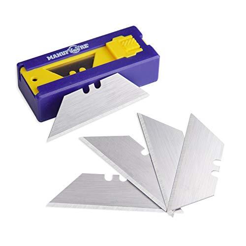 MANUFORE Utility Knife Blades Dispenser Heavy Duty Blades SK5 Steel 20 pack