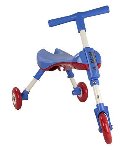 Airel - Triciclo pieghevole per bambini, da 1 a 3 anni, colore: blu, taglia unica