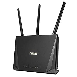 ASUS RT-AC85P Work From Home Router (WiFi 5 AC2400 MU-MIMO, 4x Gigabit LAN, App, USB 3.1, IPv6, VPN, PPTP, OpenVPN)