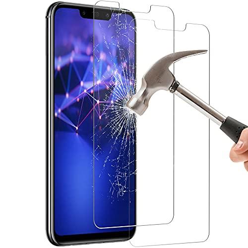 Zinking Panzerglas Schutzfolie für Huawei Mate 20 Lite, [2 Stück] [9H Härte] Panzerglasfolie, HD Gehärtetes Glas Displayschutzfolie, Frei von Kratzern, Anti-Bläschen, Anti-Kratzen, Anti-Fingerprint