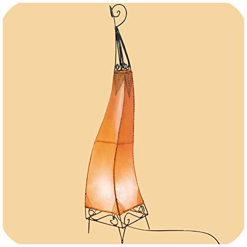 Orientalische Lampe Stehlampe marokkanische Hennalampe Lederlampe Tischleuchte Stehleuchte Orient El Bahia Orient 100 cm Color Orange