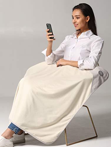 Radia Smart EMF Blanket, 5G Anti-Radiation, RF Shielding WiFi Bluetooth Radiation Protection, Large Grey