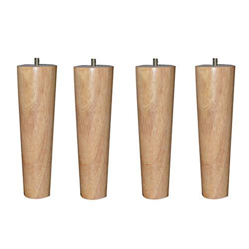 Möbelfüße 4X Massivholzmöbel Füße Eiche verjüngt Holz Sofa Fuß Kleiderschrank TV-Schrank Nachttisch Beine erhöhte Stützmatte
