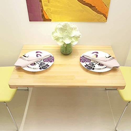 WSHFHDLC Mesas de café plegables para colgar en la pared, para colgar el ordenador portátil, fácil de montar pequeñas mesas de café (tamaño: 120 x 50 cm)