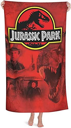 Jurassic Park - Toalla de playa para niños, diseño de dinosaurios, de secado rápido, 1,80 cm x 160 cm