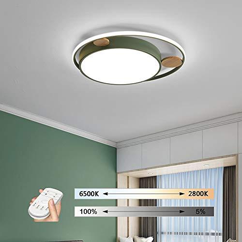 HIL woonkamerlamp, eenvoudig, Scandinavisch, modern, persoonlijkheid in de woonkamer, rond, ijzeren dimmer afstandsbediening van hout, verlichting acryl