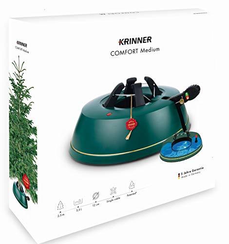 Krinner Comfort Weihnachtsbaumständer, Größe M, Plastik, Blaugrün, 36 x 36 x 10.5 cm