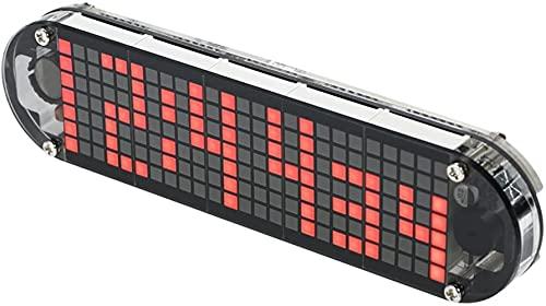 walmeck DS3231 - Reloj digital LED con tecnología de punto digital de alta precisión para bricolaje con carcasa transparente y indicador de la fecha, fecha y hora