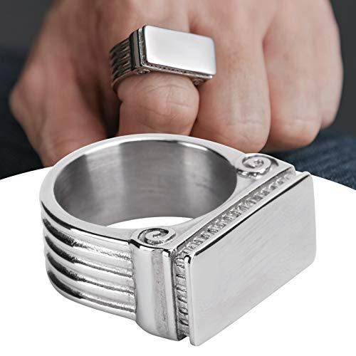 Anillo punk, anillo de hombre, anillo de acero de titanio de