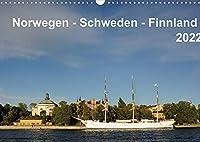 Norwegen - Schweden - Finnland (Wandkalender 2022 DIN A3 quer): Monatskalender mit 13 Landschaftsbildern aus Norwegen, Schweden und Finnland (Monatskalender, 14 Seiten )