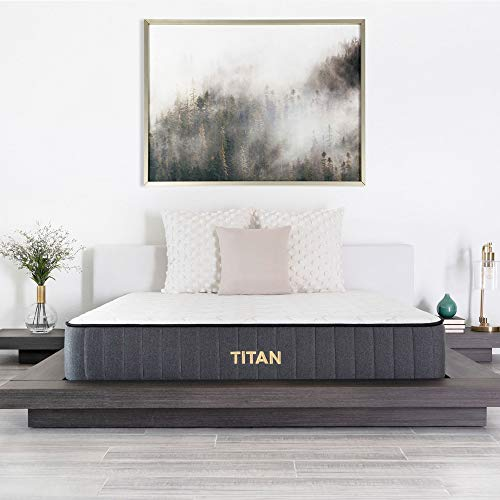 Brooklyn Bedding Titan 11-Inch TitanFlex Hybrid Mattress with TitanCaliber Coils, Queen