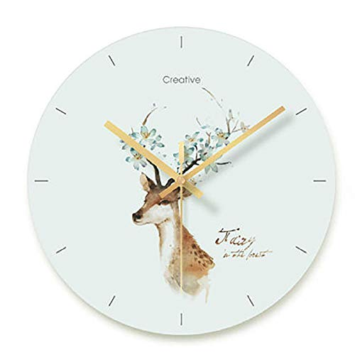 WANGZHEN Diseño Moderno nórdico Reloj silencioso Sala de Estar Dormitorio decoración del hogar-Estilo U_10 Pulgadas
