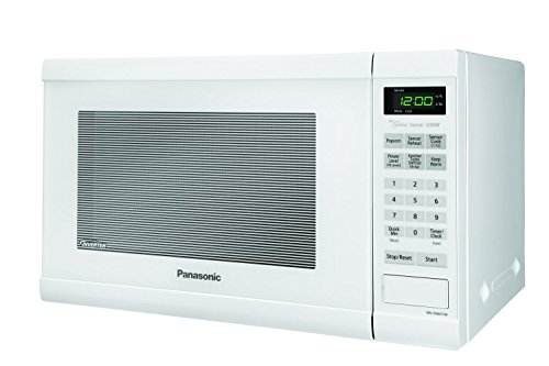 Compact Countertop Microwave Oven 1.2 cu ft Inverter with Free Pot Holders