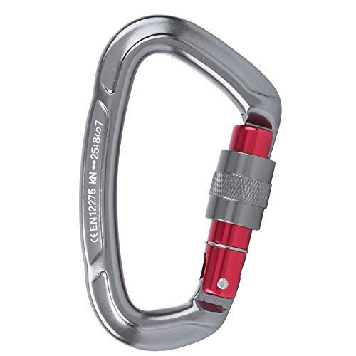 Vbest life D-Lock-Schnalle aus Aluminiumlegierung, Kletterschlaufe für Hochlastlager im Freien Rock Auto-Lock Carabiner(grau)