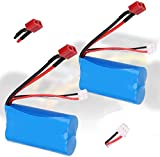 Crazepony-UK 2PCS Battery 7.4V 1500mAh Batterie 15C Universal for WLtoys 4WD Rc Cars 12403 12401 12402 12404 12428 Spare Part Replacement