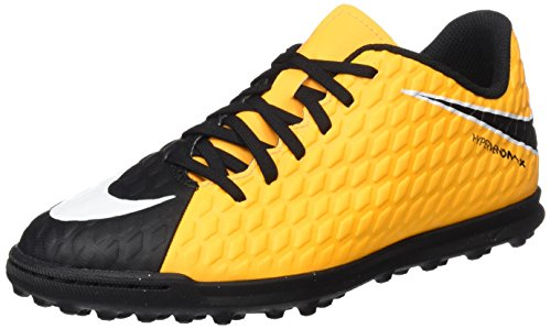 Nike Unisex-Kinder Jr. Hypervenomx Phade Iii Tf Fußballschuhe, Orange (Laser Orange/black/black/volt), 37.5 EU