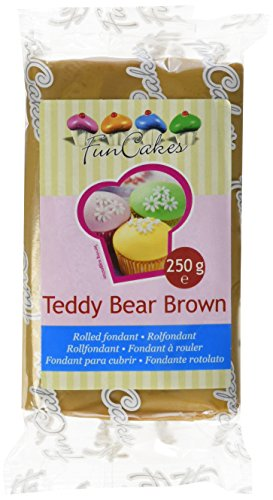 FunCakes Rolfondant -Teddy Bear brown, 1er Pack (1 x 250 g)