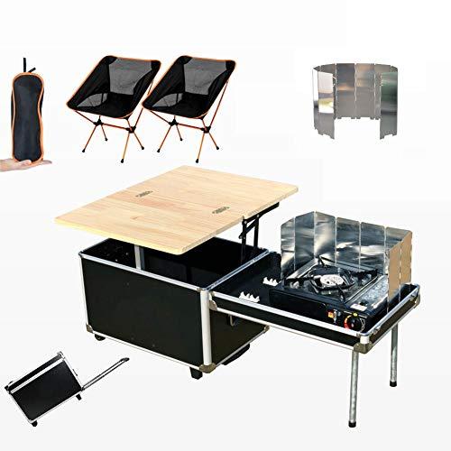 Cocina De Camping, Quick Kitchen Plus Mueble De Cocina Plegable De Camping, Cocina De Camping Todo En Uno Portátil para Viajes Al Aire Libre Y Picnic, Aleación De Aluminio