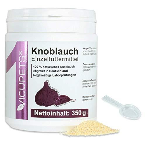 Vicupets ONE I Knoblauchpulver für Hunde, Pferde & Katzen I 350g I Alternativ zu Knoblauchtabletten/Knoblauchgranulat I 100% Knoblauch I Garlic Powder BARFEN