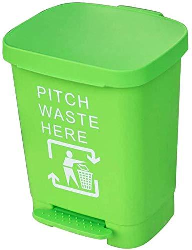 Indeling vuilnisbakken pedaalemmer 40L grote capaciteit Dustbin Huis Huis Keuken Trash Kunststof bak met deksel De buitenkant papiermanden, Maat: 40L Kleur: Rood (Color : Green)