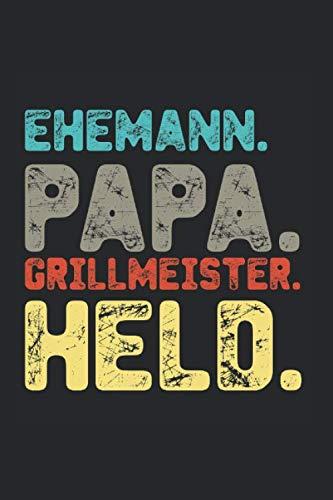 Ehemann Papa Grillmeister Held Grill Sommer Bier: Barbecue BBQ Smoking Sommer kaltes Bier Notizbuch Rezeptbuch A5 120 Seiten