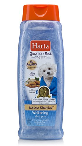 Hartz Groomer's Best Whitening Dog Shampoo, 18 Ounce Bottle