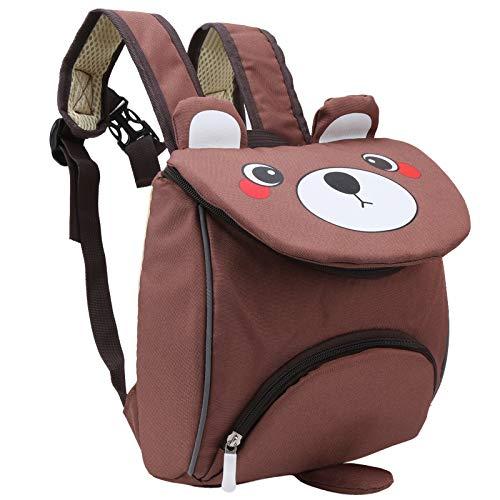 Bolso Oxford Impermeable para Cochecito de Bebé Rosa Marrón para Bebé Niño Niña(Bear brown)